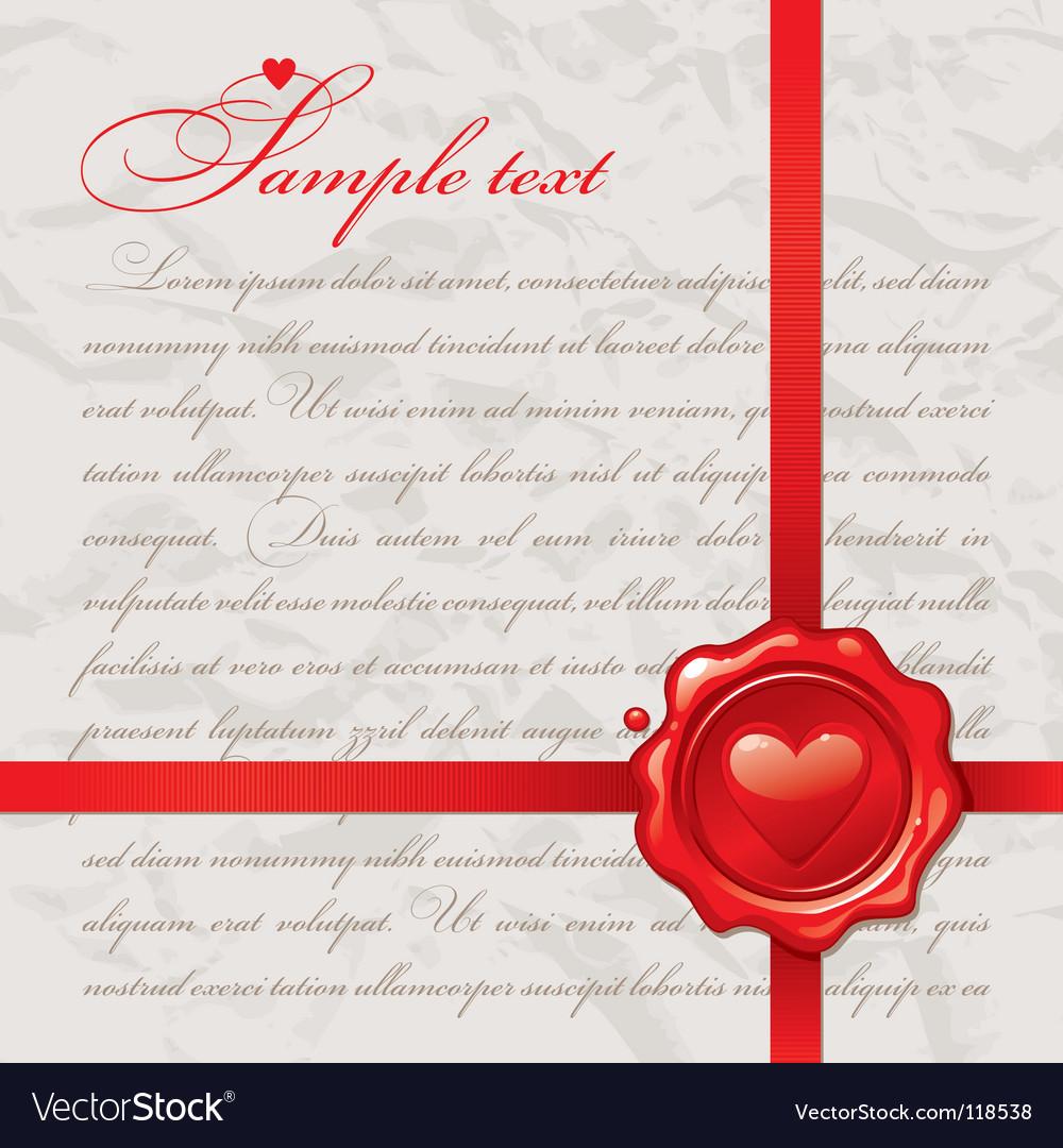Vintage Valentine's design vector image
