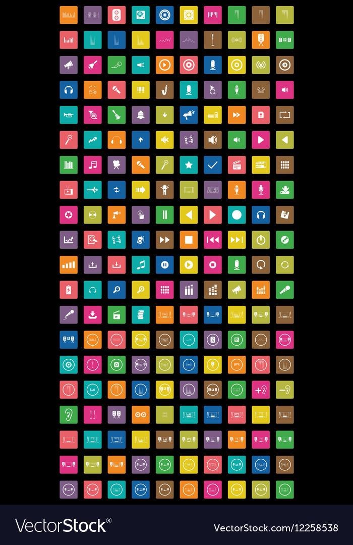 1831colorful of big set network and social mendia vector image