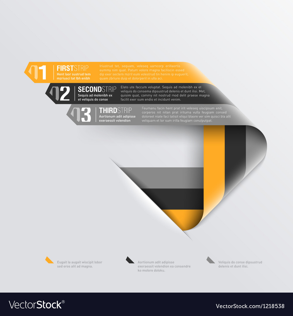 Curved strips design template vector image