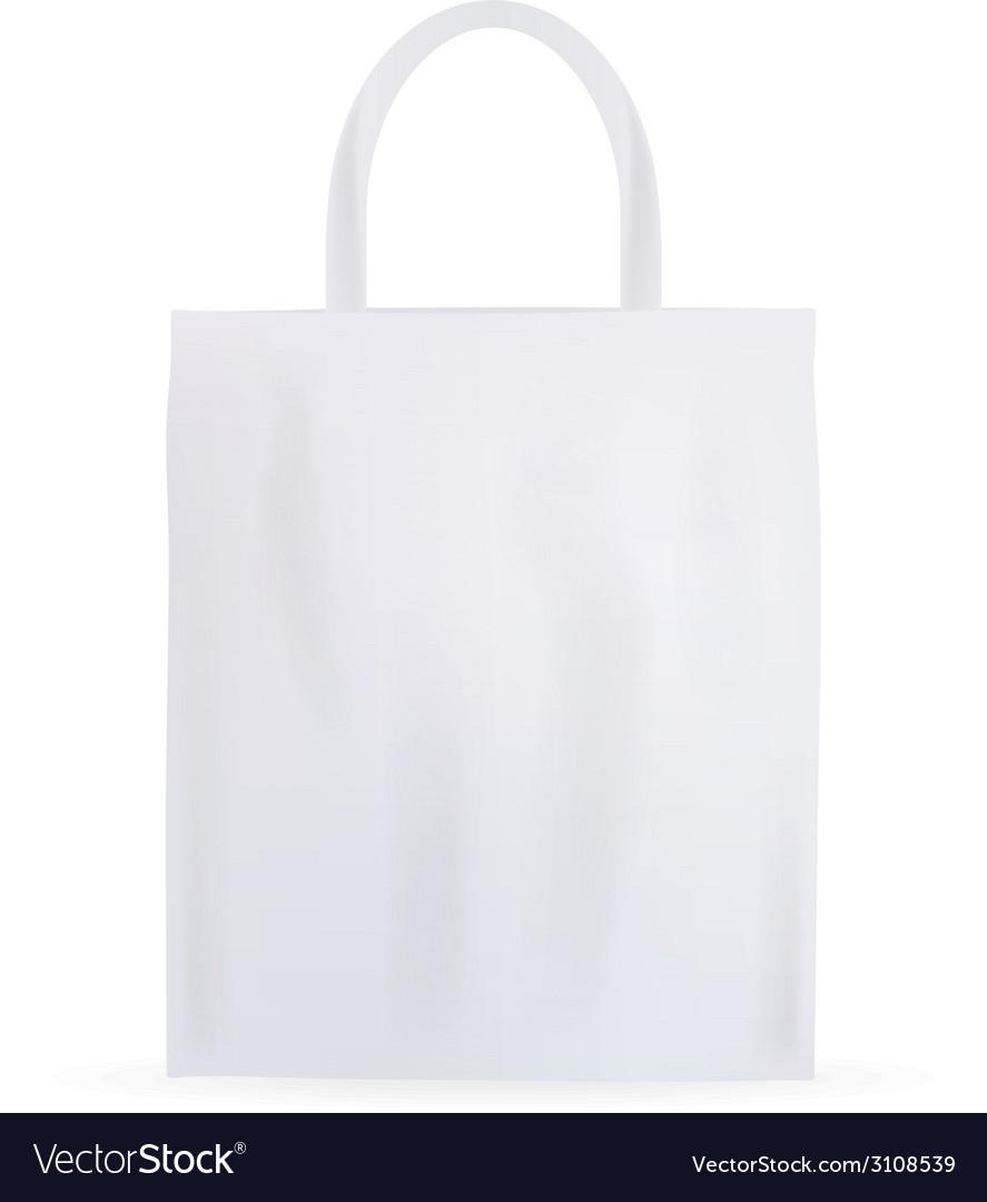 White cotton bag vector image
