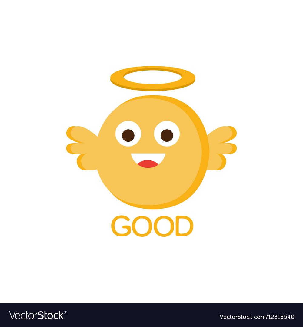 Good Yellow Angel Word And Corresponding vector image