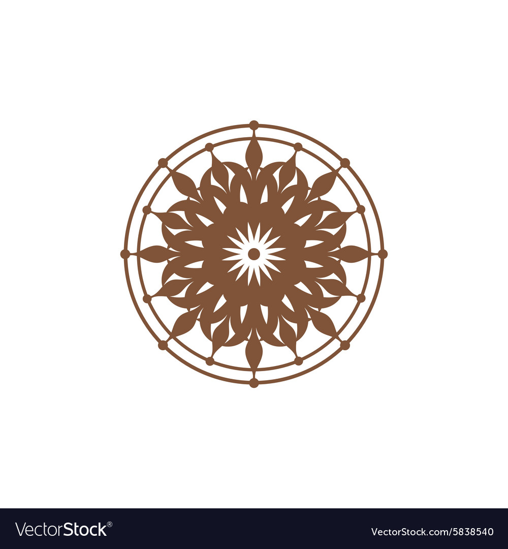 Symmetric ornament sign vector image