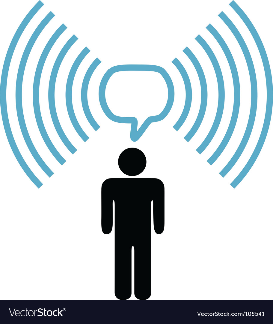 Broadband communication vector image