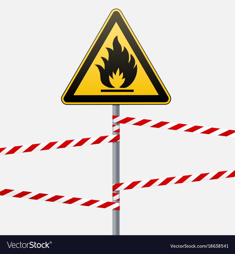 Caution fire hazard combustible environment vector image biocorpaavc Gallery