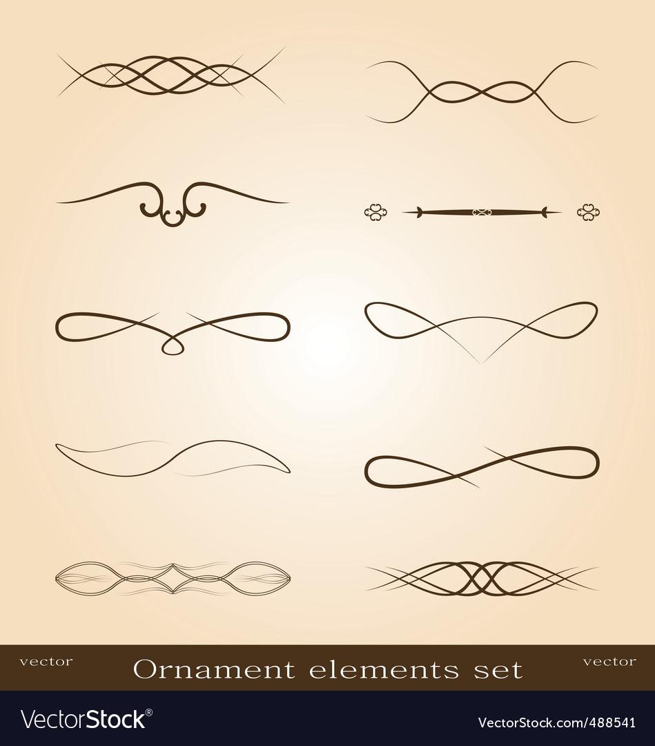 Ornate designs vector image