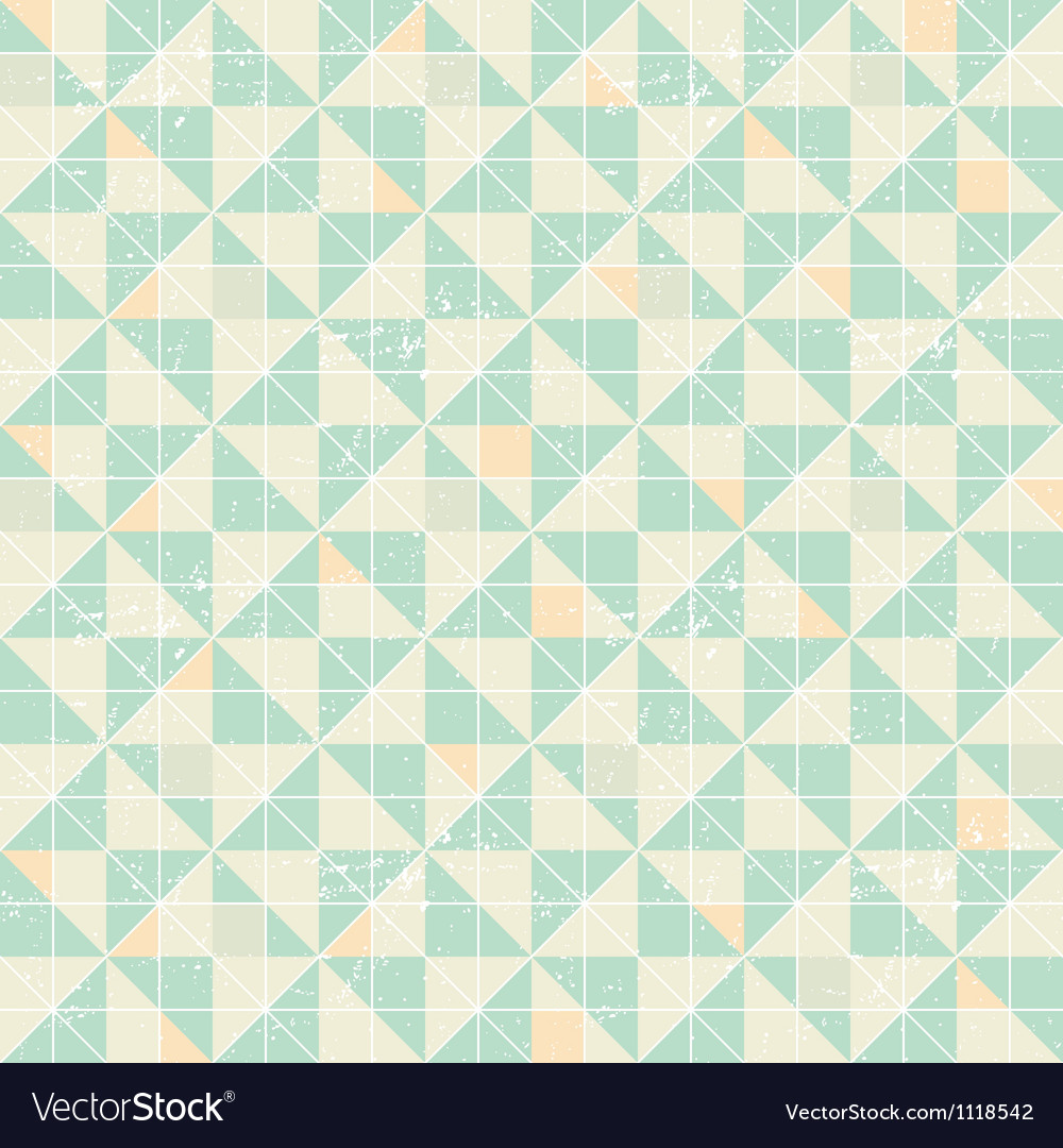 Seamless geometric pattern with origami elements vector image