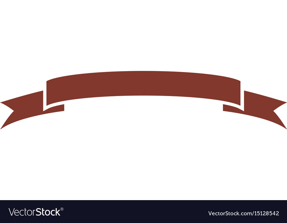 Decorative scroll ribbon banner decoration icon vector image for Decorative scrollwork
