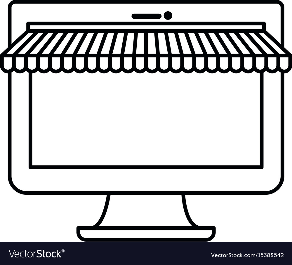 White background with monochrome silhouette vector image