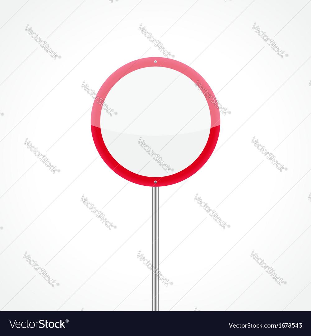 No vehicles traffic sign vector image