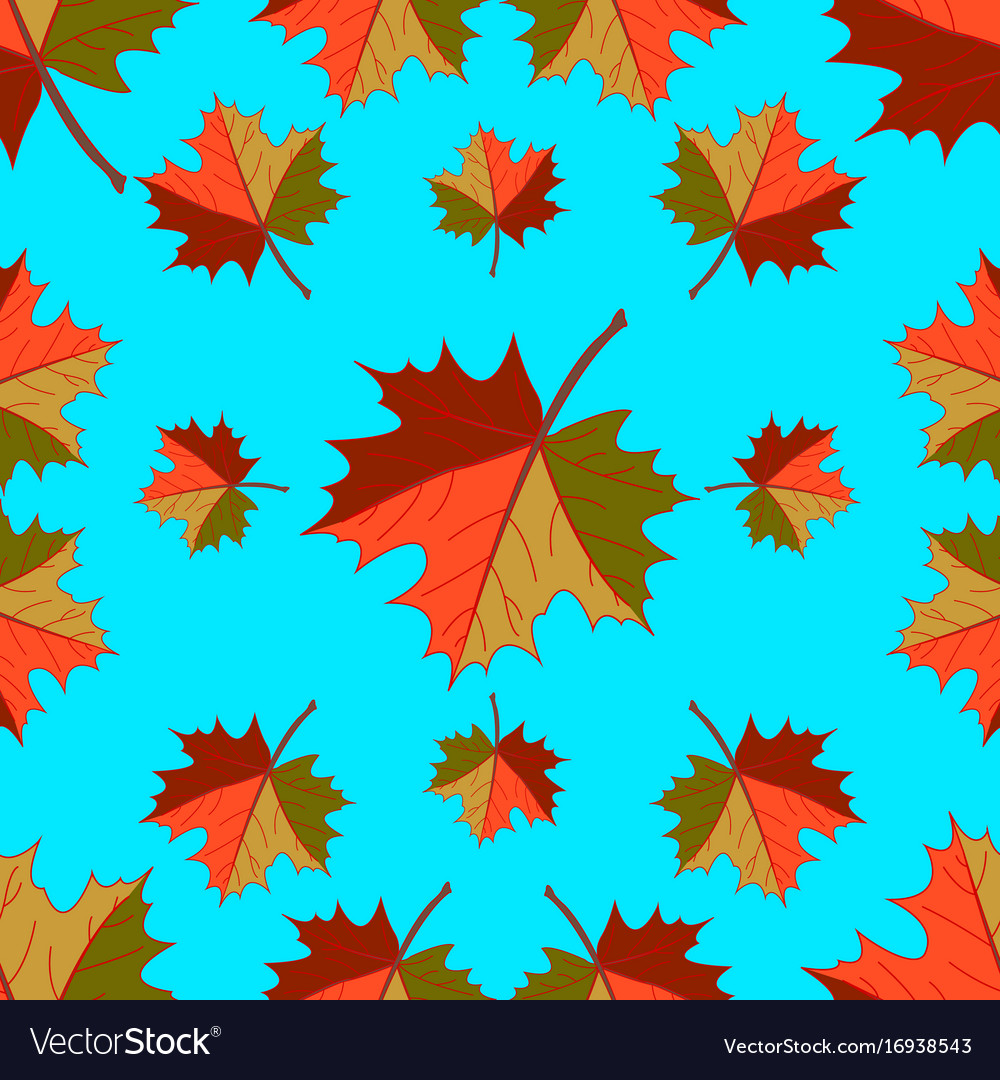 Pattern - autumn falling leaves vector image