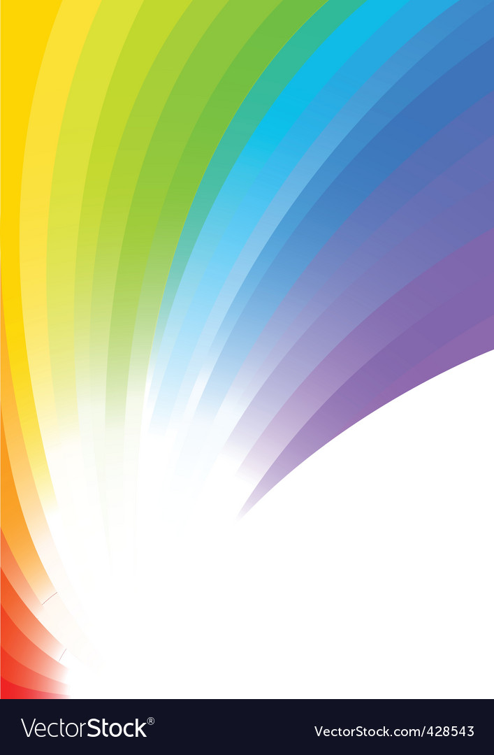 Vector rainbow background vector image