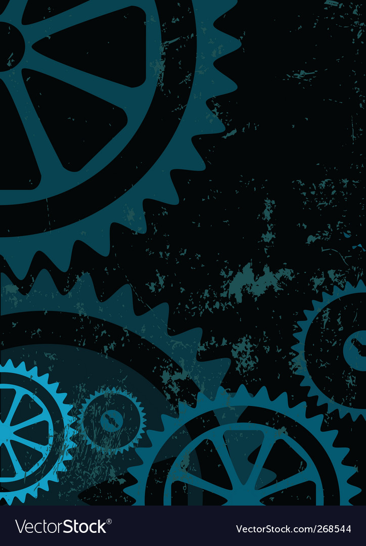 Grunge gear Vector Image