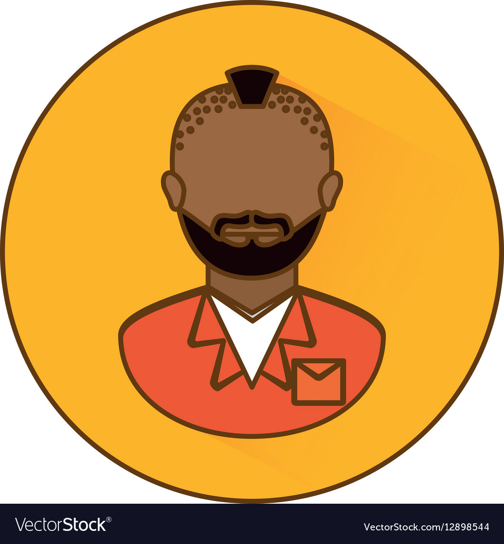 Signal arrested man icon image vector image