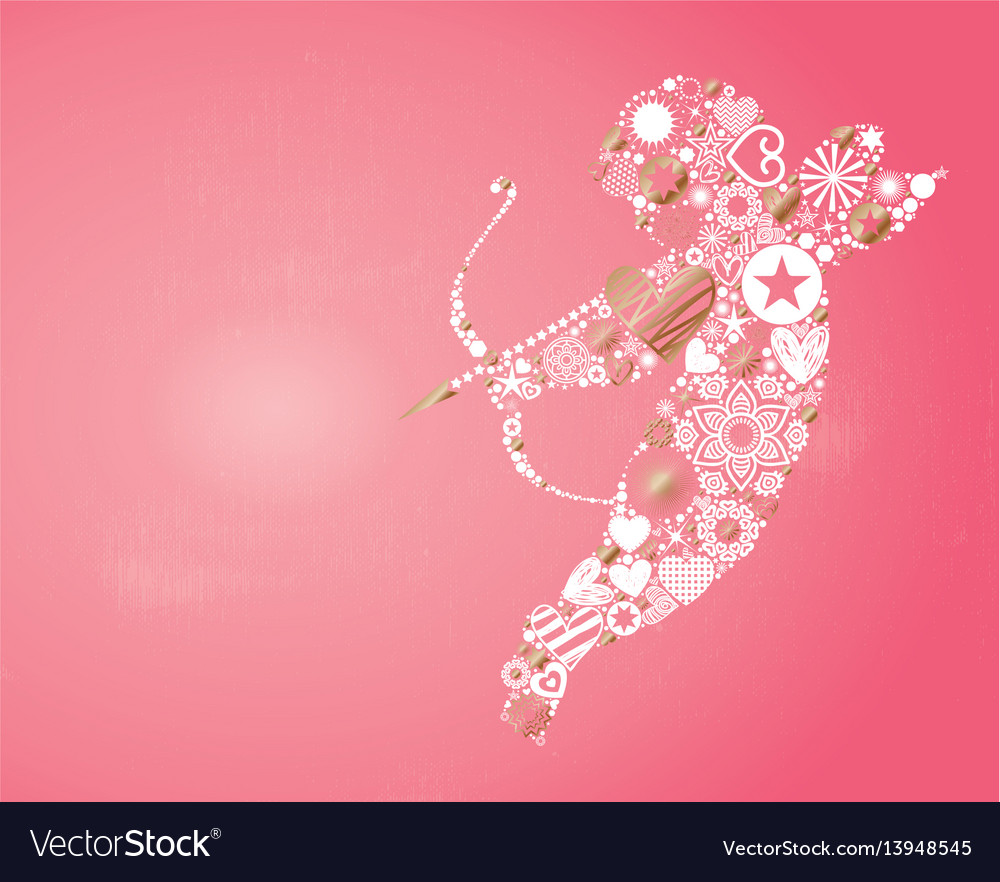 Cupid valentines day card vector image