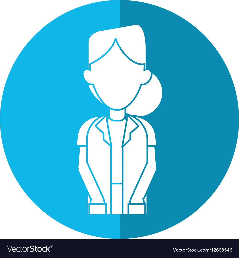 doctor woman medicine science help shadow vector image rh vectorstock com Reflection Clip Art Walking Shadow Clip Art
