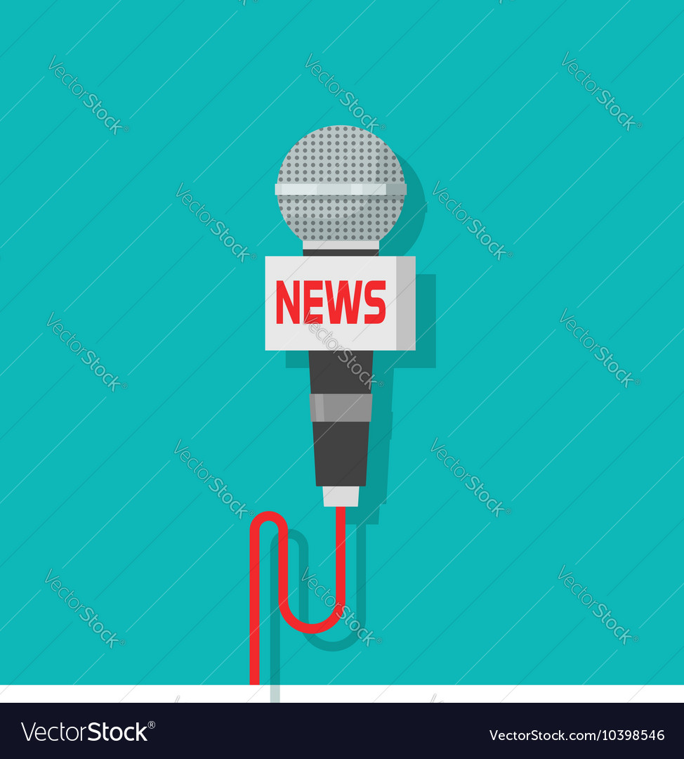 Microphone icon isolated on blue color vector image