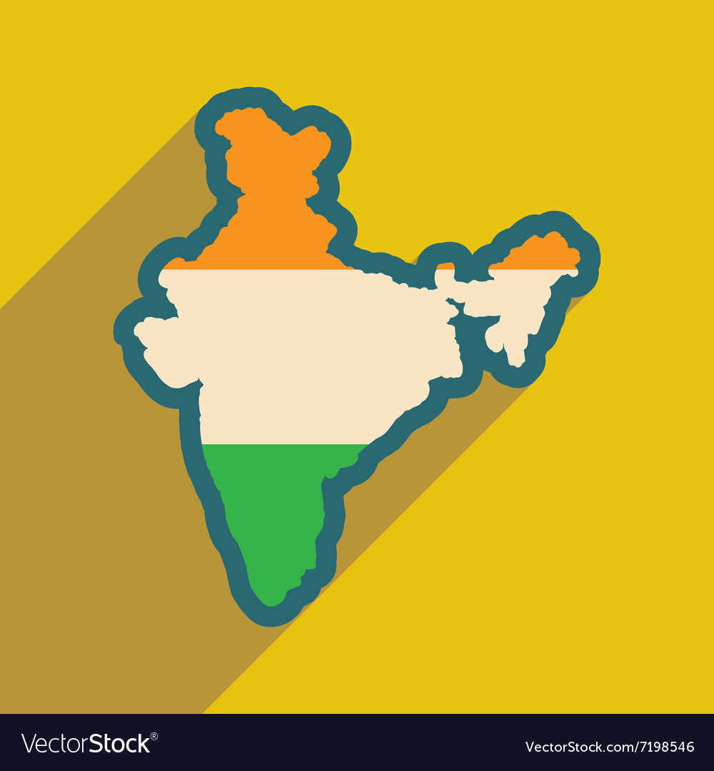 Modern flat icon with long shadow map of india vector image modern flat icon with long shadow map of india vector image gumiabroncs Gallery