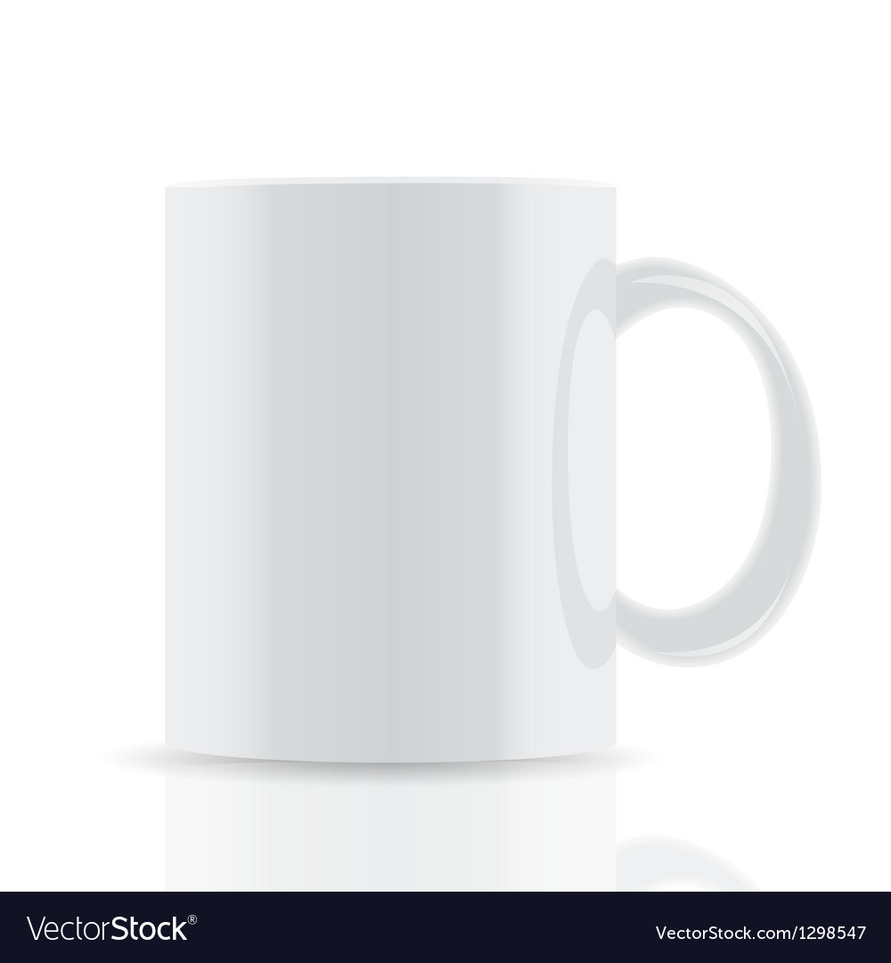 White cup isolated on white background vector image