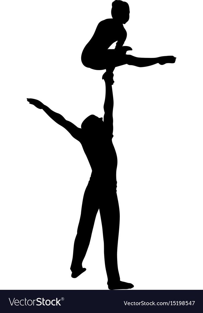 Gymnasts acrobats gymnasts circus gymnasts vector image