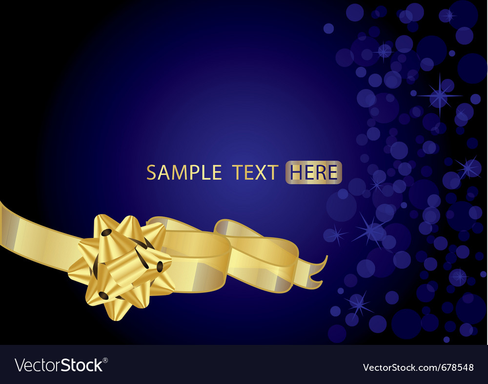 Background with gold bow vector image