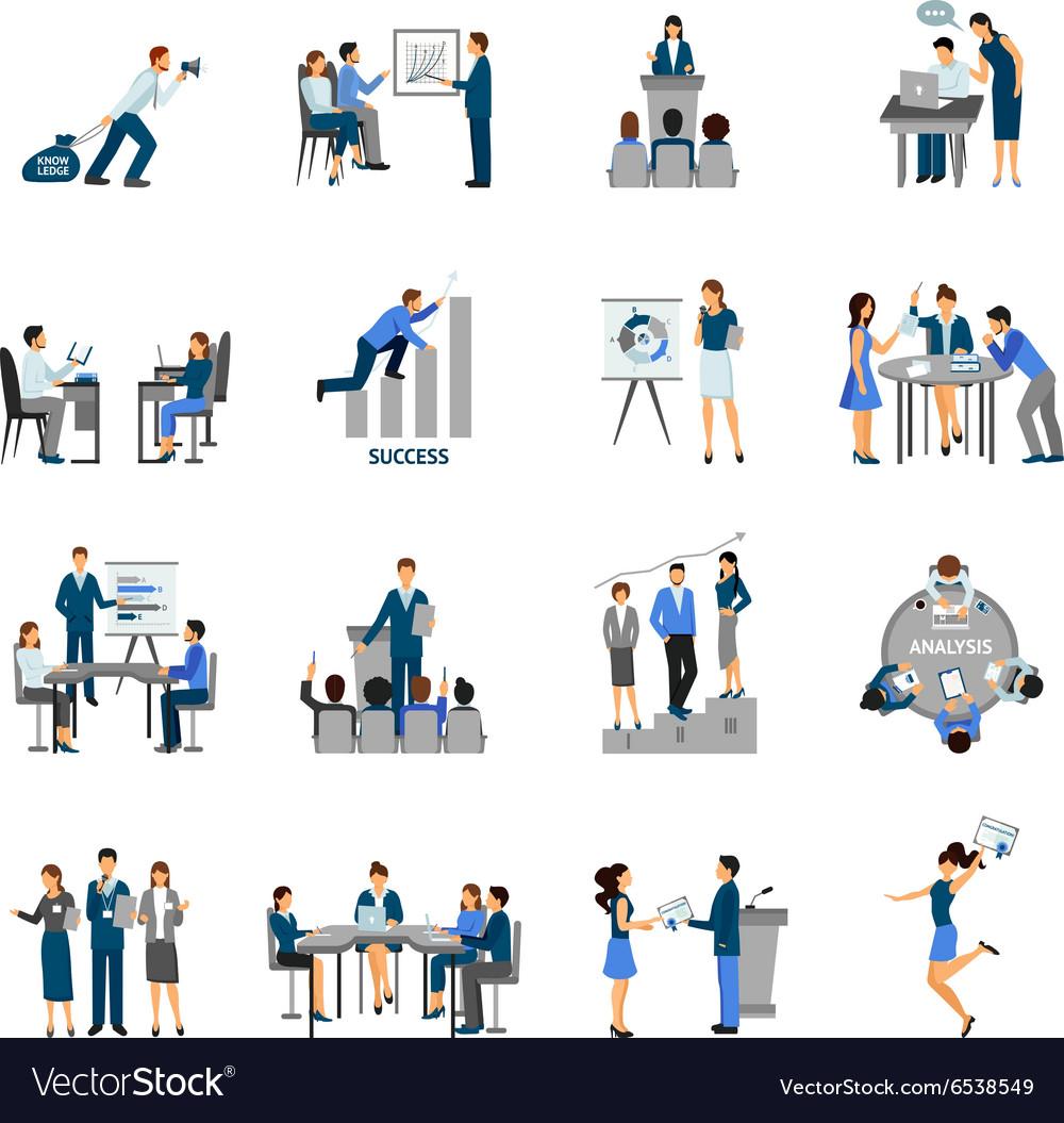 Business Training Set vector image