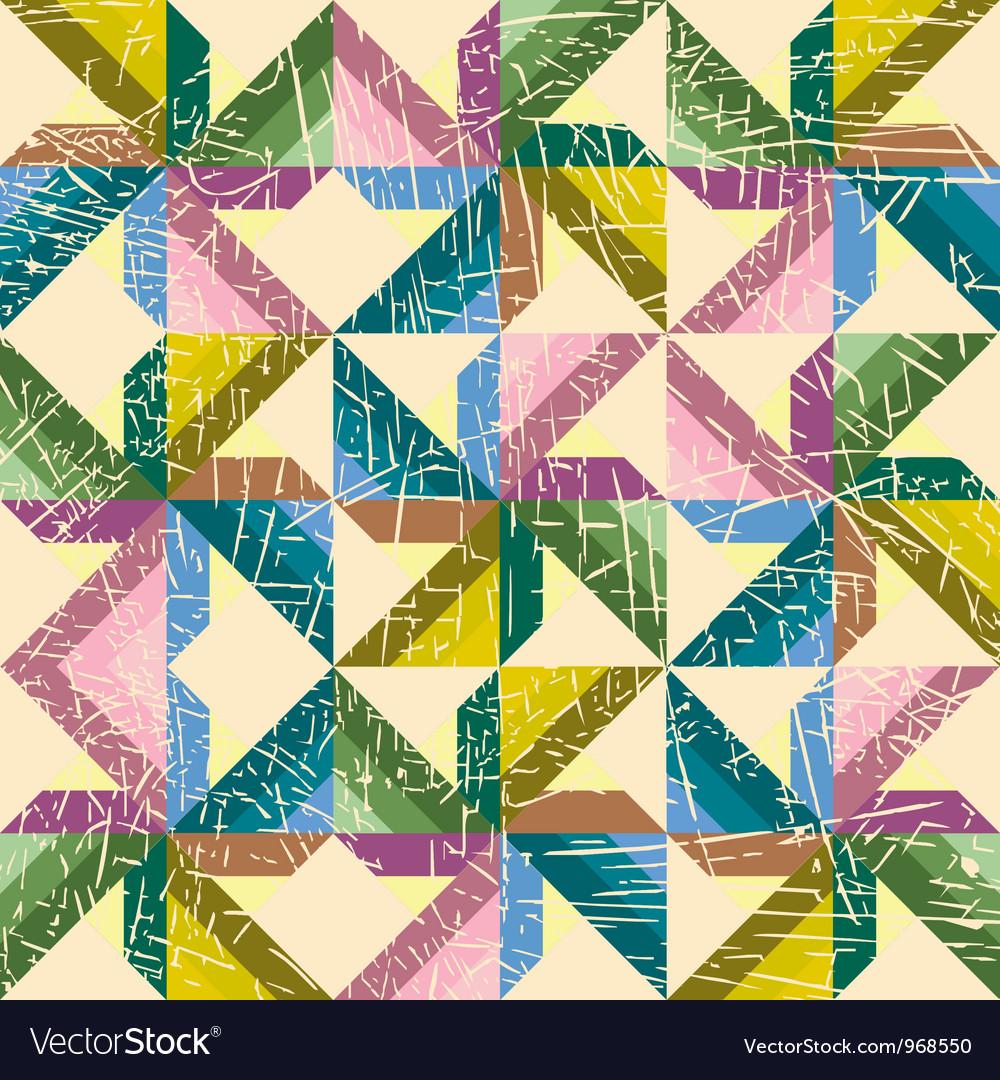Decorative retro background vector image