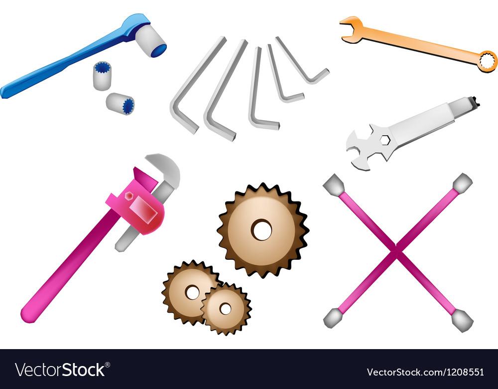 A Set of Auto Repair Tools Kits vector image