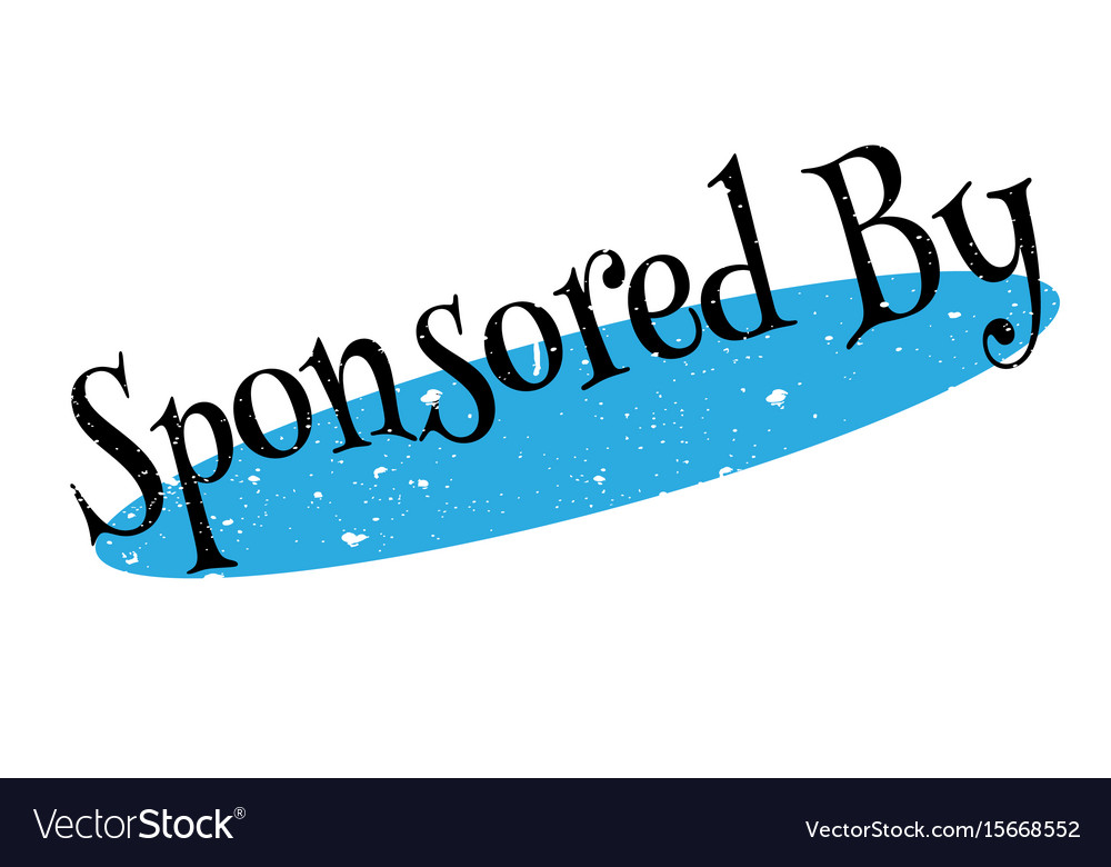 Sponsored by rubber stamp vector image