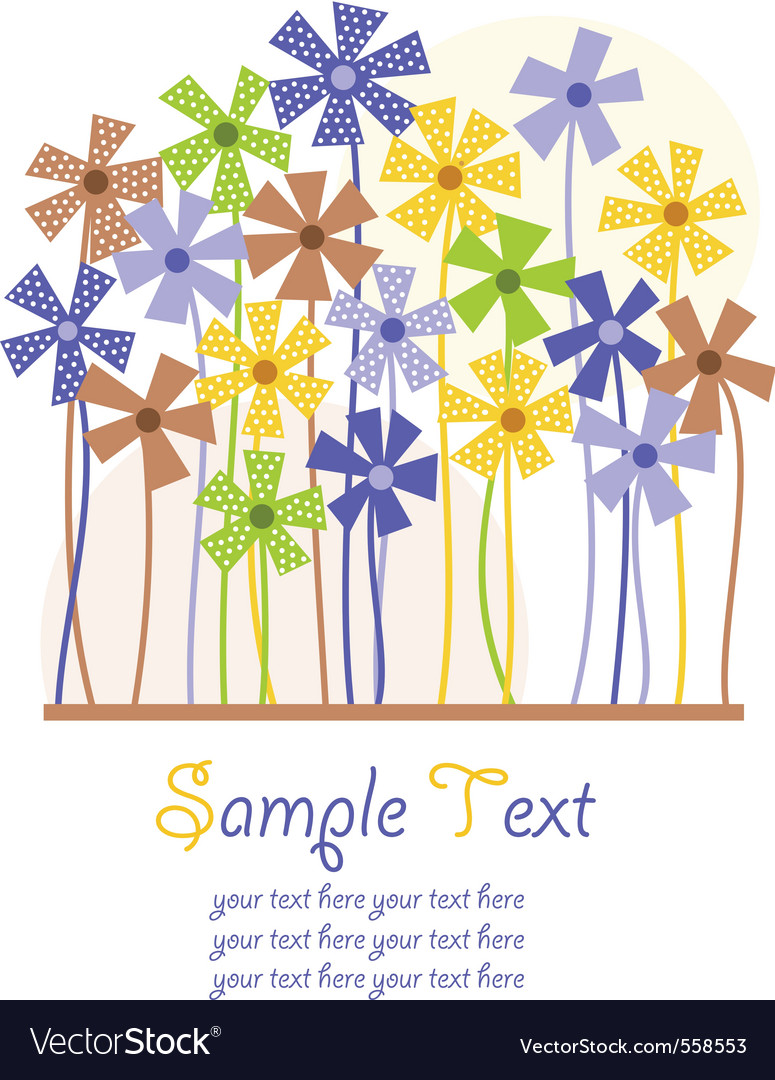 Background with dotted flowers vector image