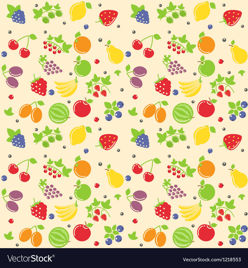 Seamless fruit texture vector image