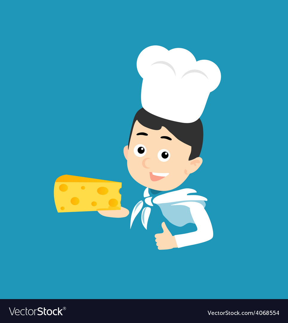 Cooking Icon Cheese vector image