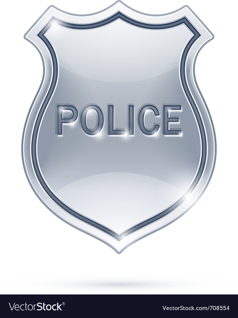 police badge royalty free vector image vectorstock