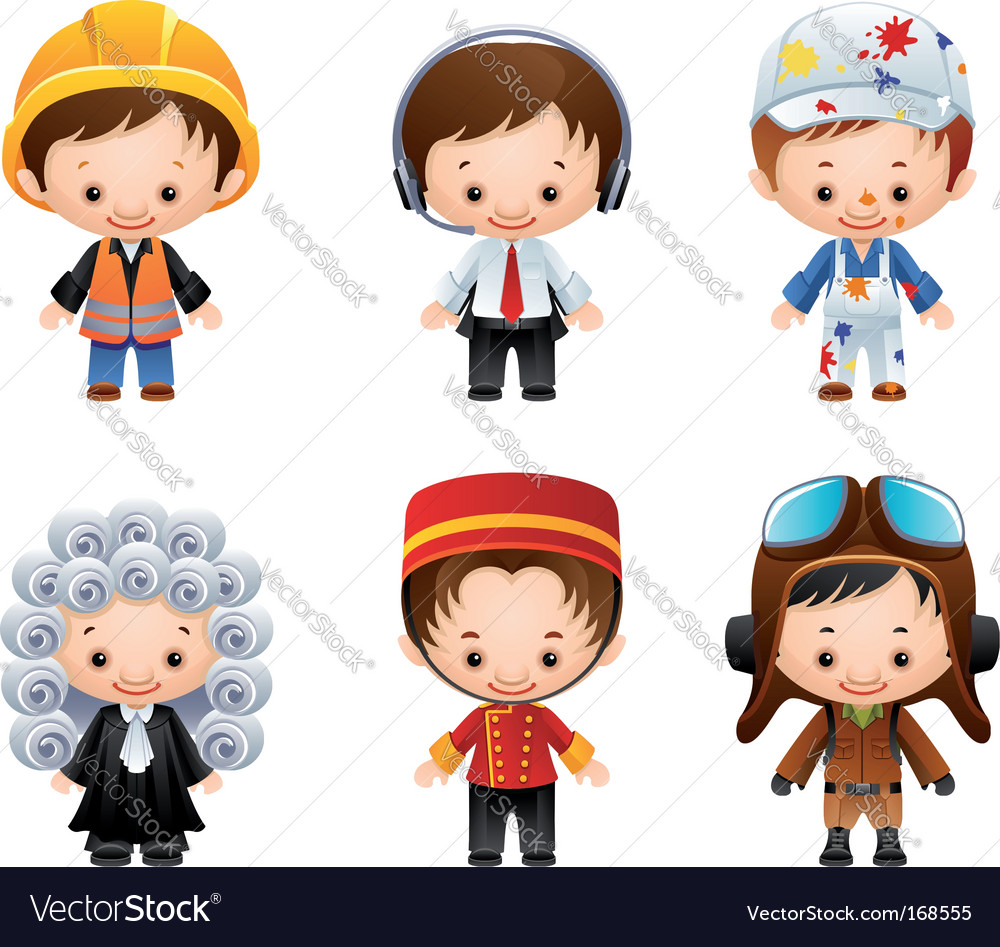 Occupation icons vector image