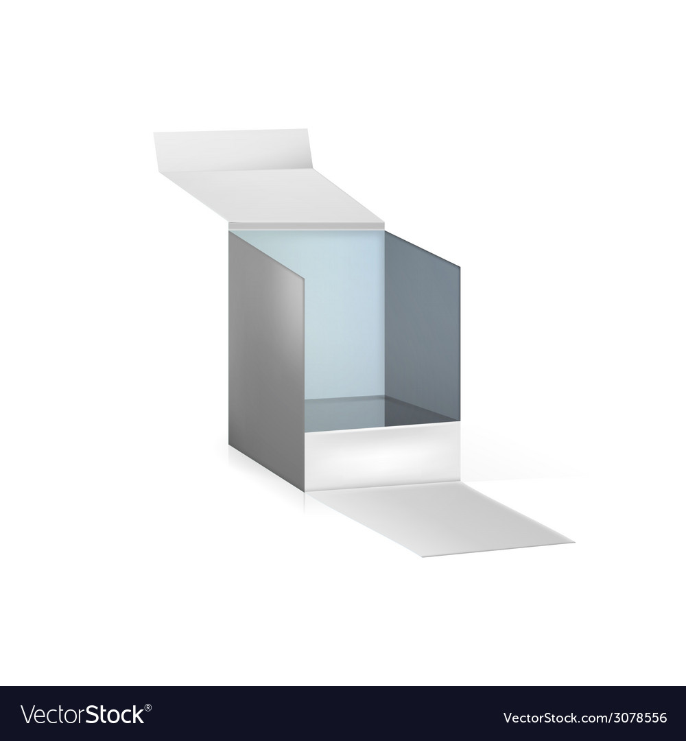 Gray opened box vector image