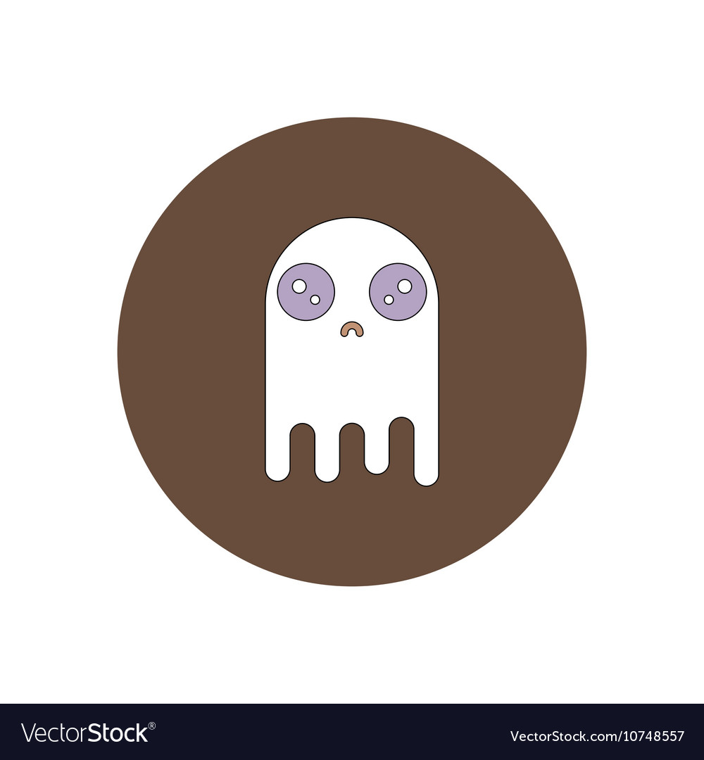 In flat design Halloween icon