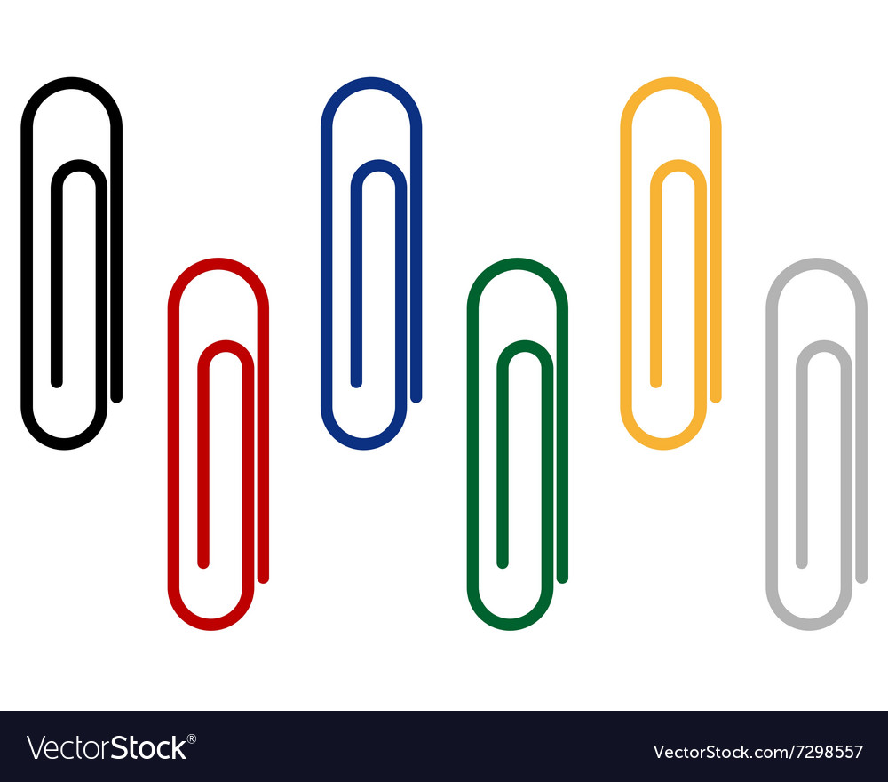 Paper clips for fastening papers vector image