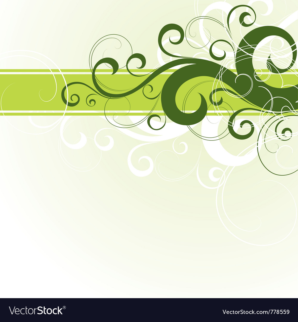 Green floral design vector graphic free vector graphics all free - Green Floral Design Vector Image