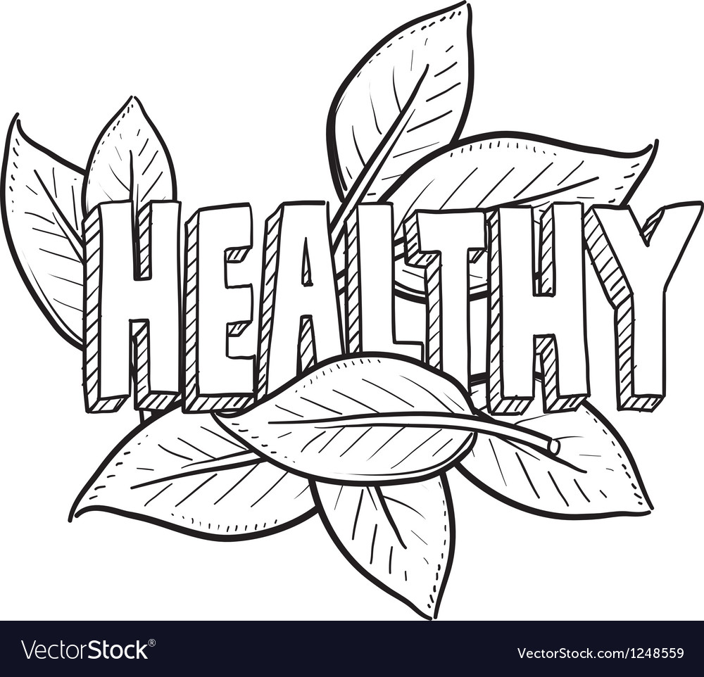 Healthy vector image