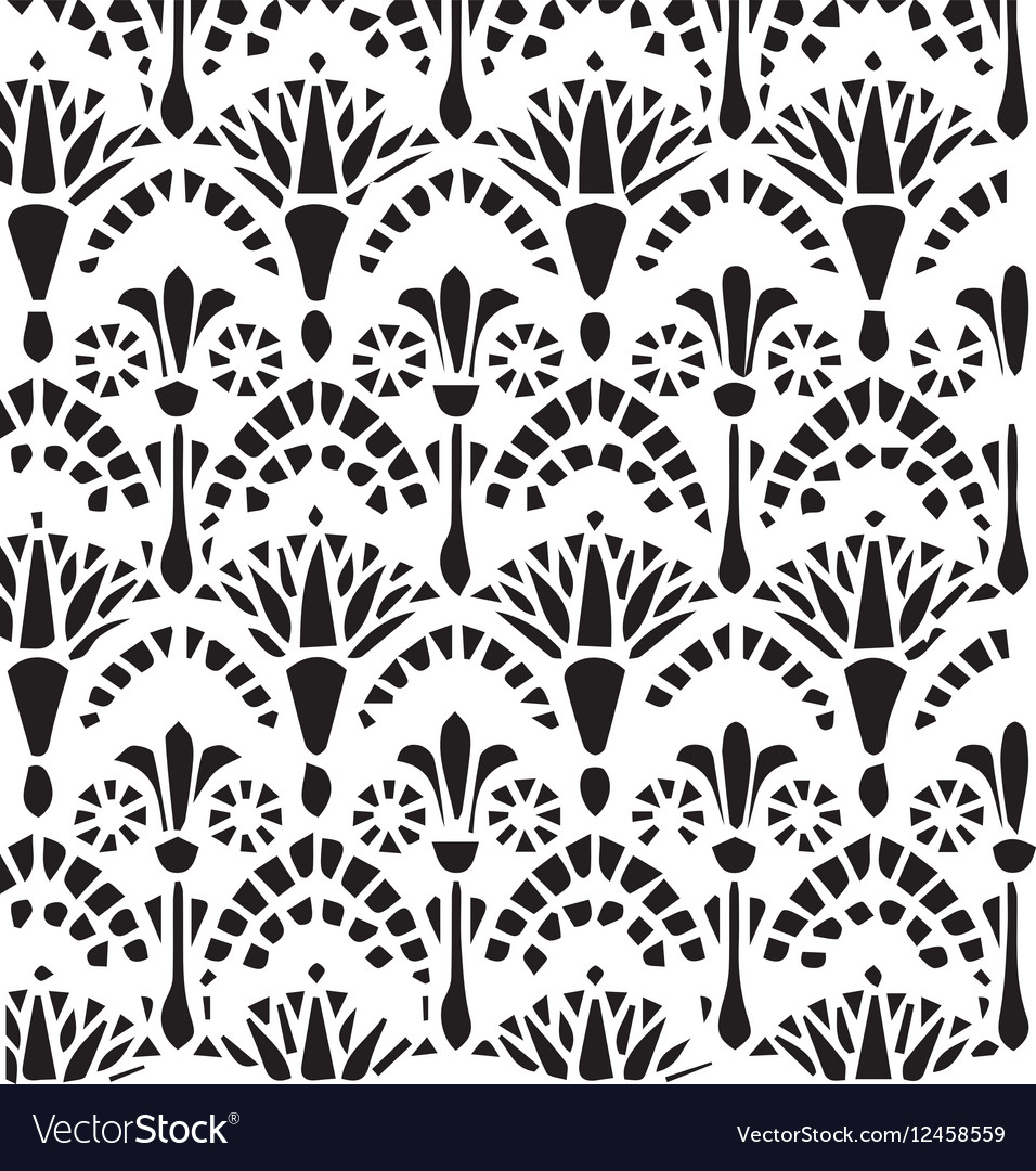 Vintage Egyptian ornament pattern vector image