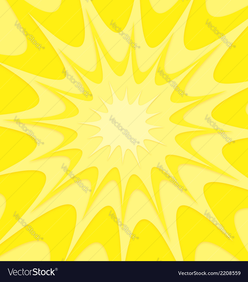 Yellow explosion background vector image