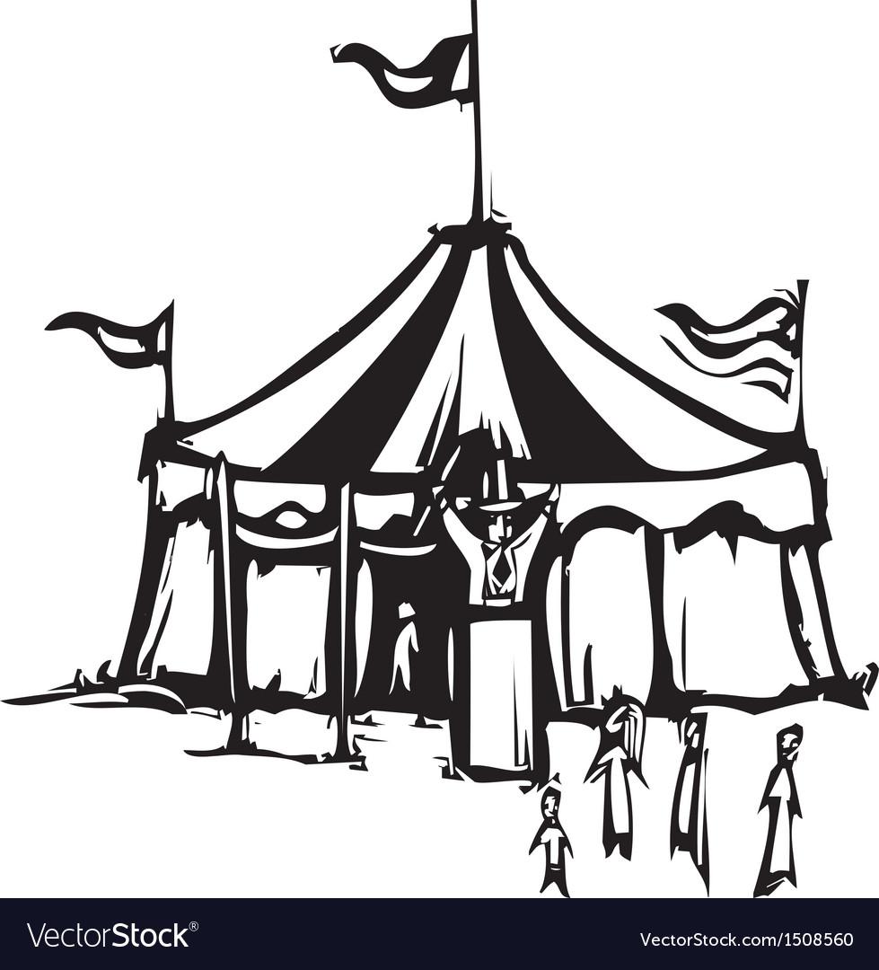 Circus Tent vector image  sc 1 st  VectorStock & Circus Tent Royalty Free Vector Image - VectorStock