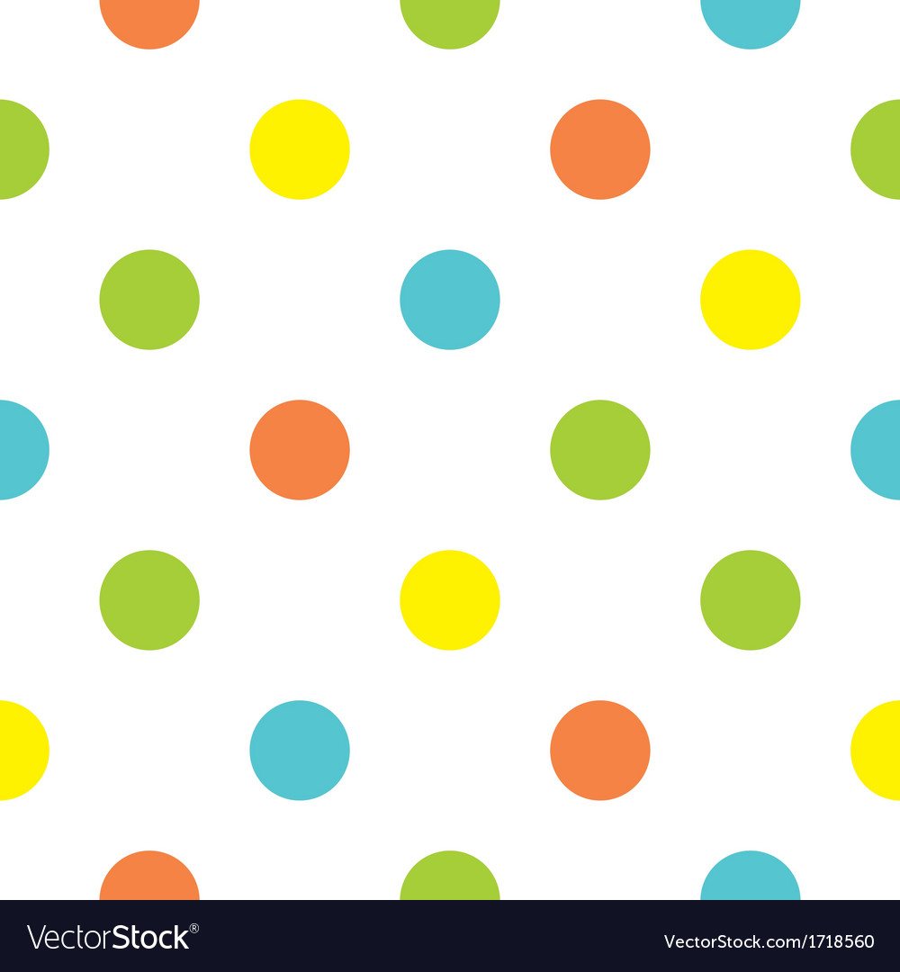 Seamless background with big colorful polka dots vector image