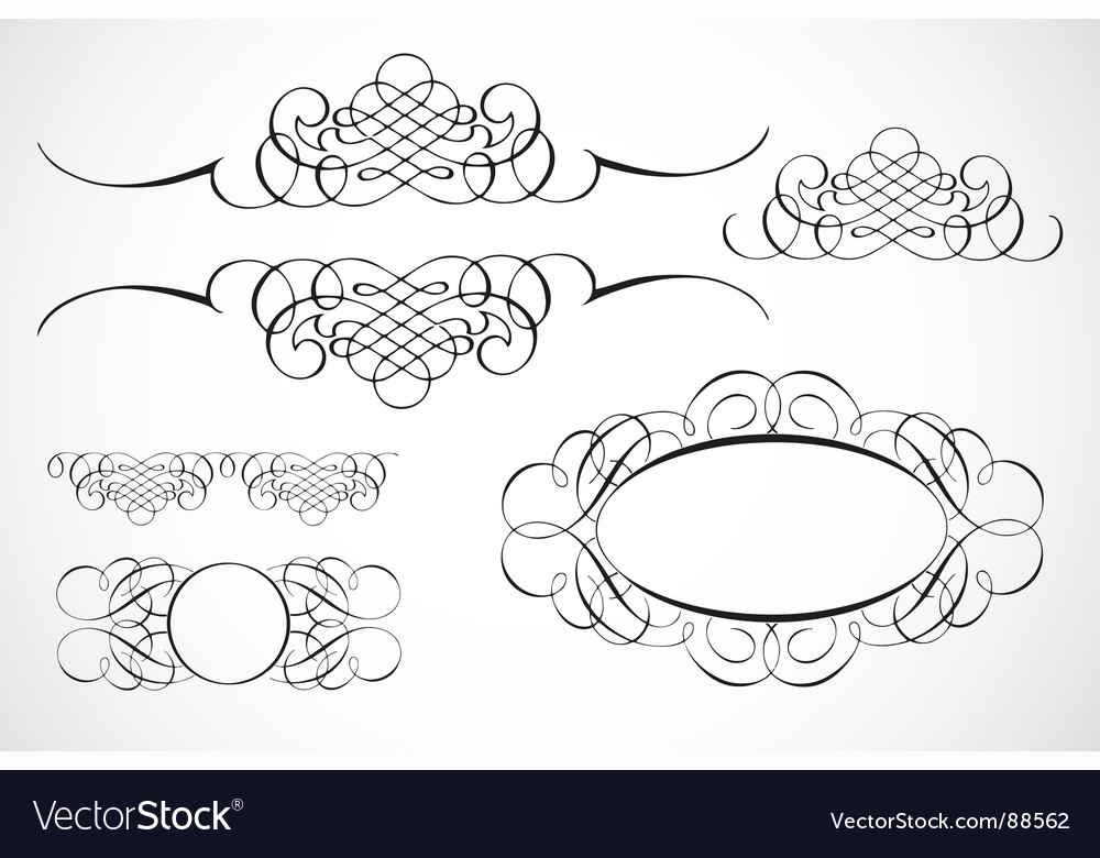 Flourishes vector image