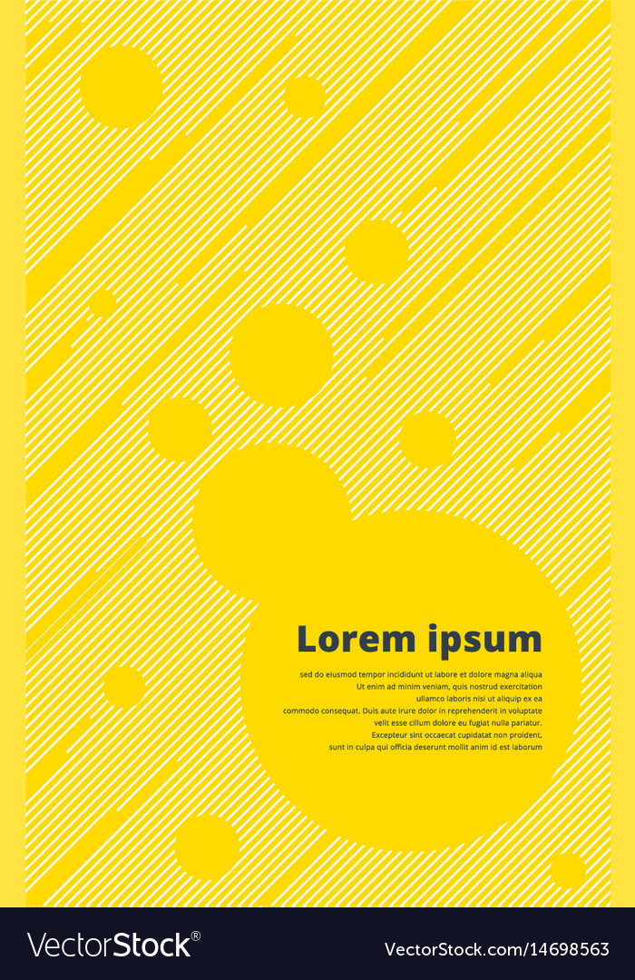 Template yellow line with circle background for vector image