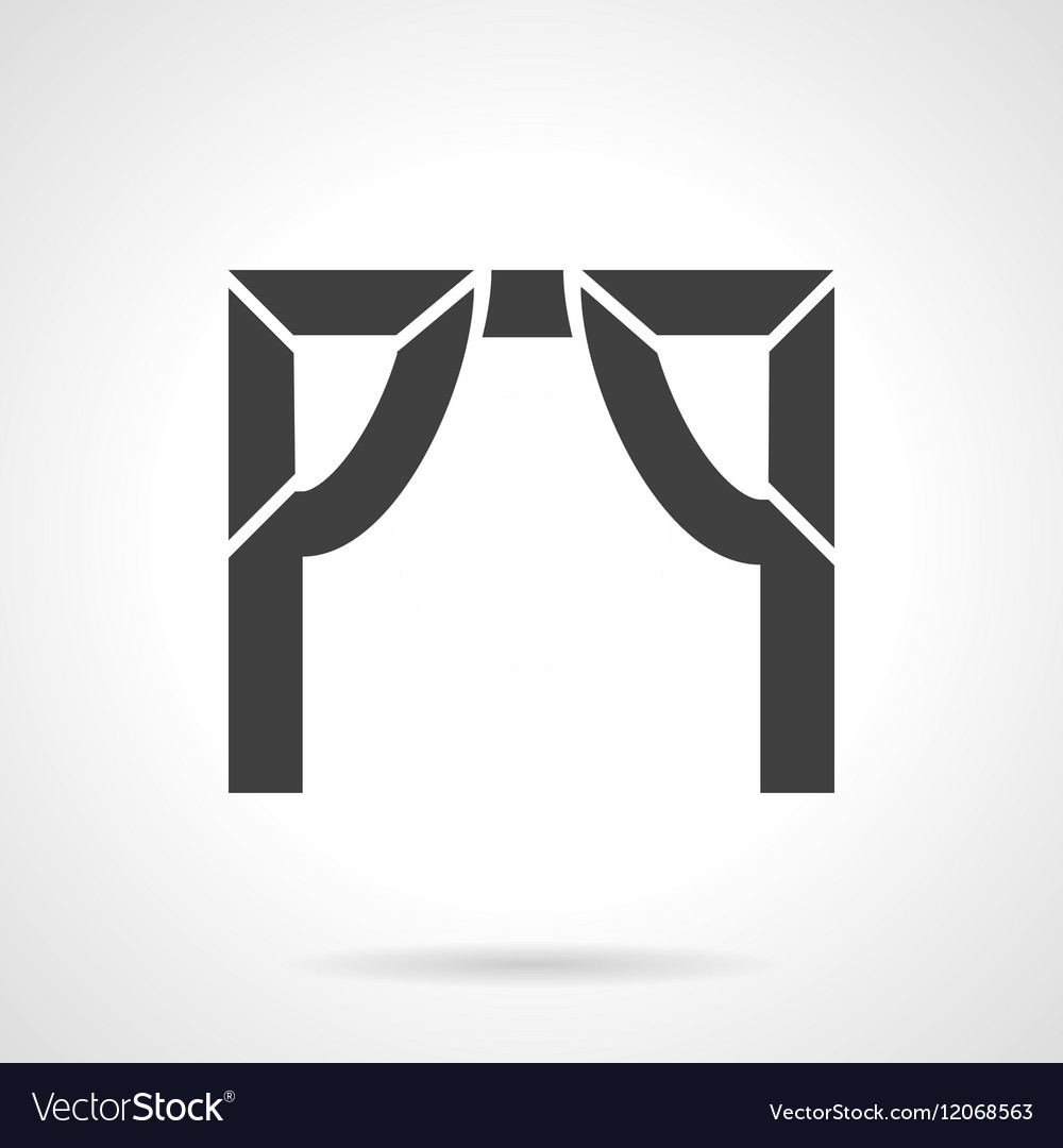 Tented arch glyph style icon vector image