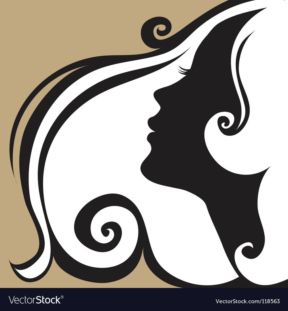 Vintage woman vector image