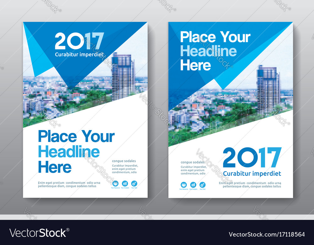 Corporate Book Cover Design Vector : City background business book cover design vector image