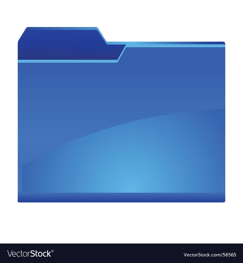 Folder new vector image