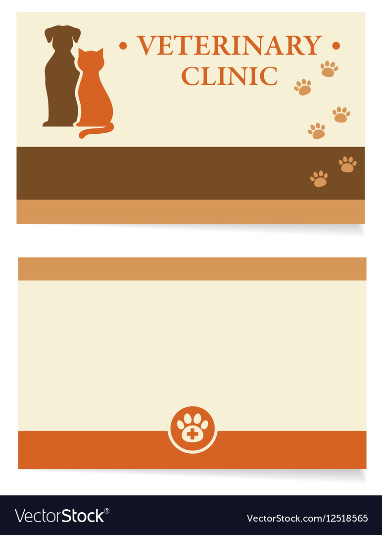 Veterinary business card Royalty Free Vector Image