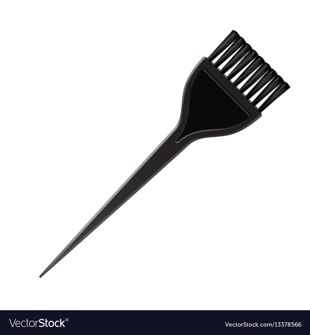 Plastic hair coloring brush comb on background Vector Image